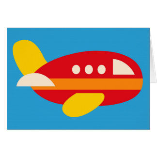 O tema bonito do transporte do avião caçoa cartão de nota