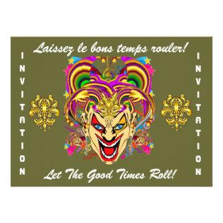 O tema do partido do carnaval importante considera convite personalizado