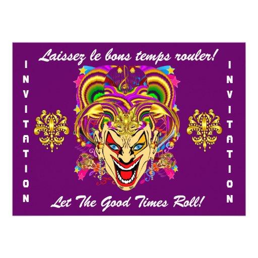 O tema do partido do carnaval importante considera convites personalizado