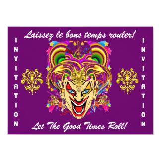 O tema do partido do carnaval importante considera convites personalizados