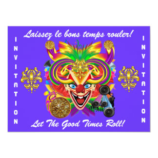 O tema do partido do carnaval vê por favor notas convite 16.51 x 22.22cm