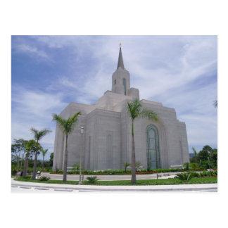 O templo de San Salvador El Salvador LDS Cartão Postal