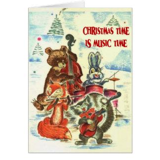 O tempo do Natal é tempo da música, banda animal Cartão Comemorativo