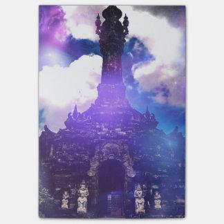 O tempo do templo esqueceu bloco post-it