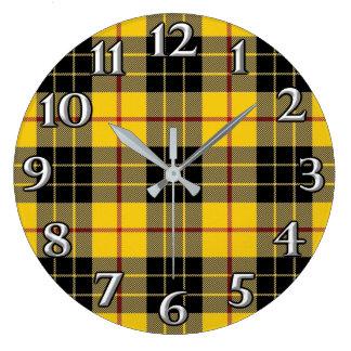O tempo escocês acentua o Tartan de MacLeod do clã Relógio Grande