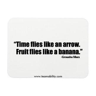 O tempo voa o ímã