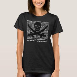 O terrorismo é MAU, projeta 1 camisa