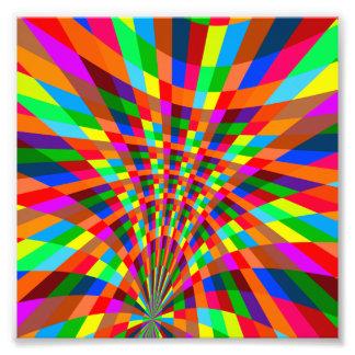 O teste padrão abstrato colorido moderno colore o impressão de foto