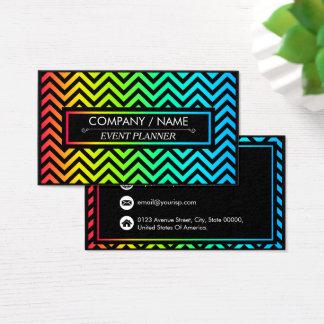 O teste padrão colorido de Chevron personaliza Cartão De Visitas