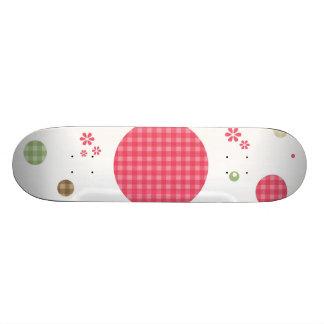 O teste padrão cor-de-rosa feminino do guingão shape de skate 18,7cm