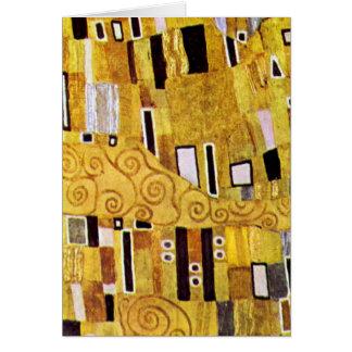 O teste padrão do beijo por Gustavo Klimt, arte Cartão De Nota
