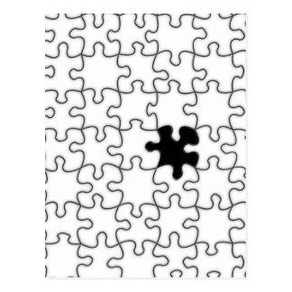 O teste padrão faltante da parte do quebra-cabeça cartão postal