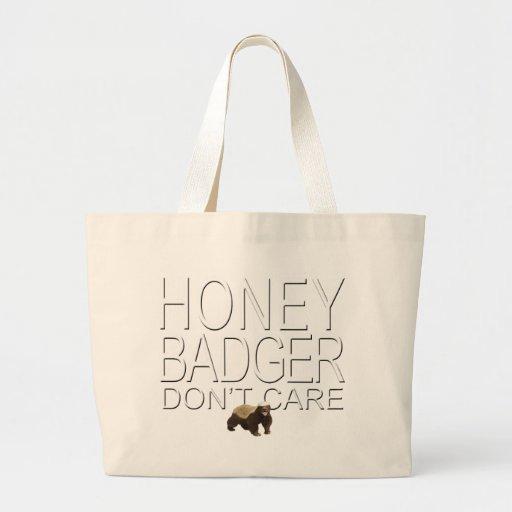 O texugo de mel não se importa bolsa de lona