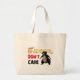 O texugo de mel não se importa bolsas para compras
