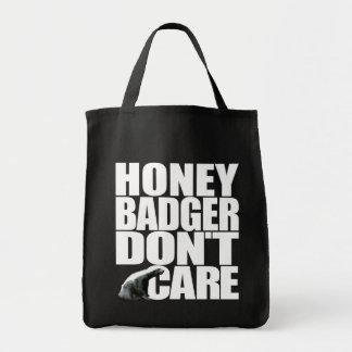 O texugo de mel não se importa o saco bolsa para compras