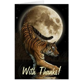 O TIGRE de Bengal, Moon cartões de agradecimentos