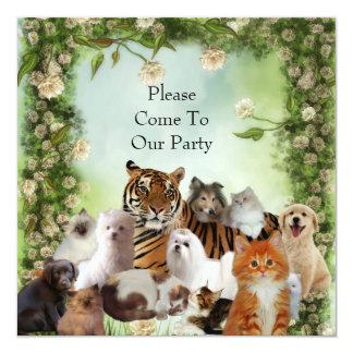 O tigre do convite persegue o partido dos gatos