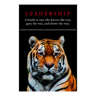 O tigre Eyes a liderança inspirada Poster