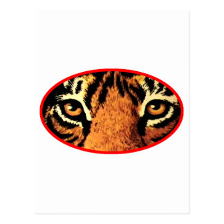 O tigre Eyes o vermelho os presentes de Zazzle do Cartao Postal