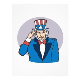 O tio Sam sauda-o Panfletos Coloridos