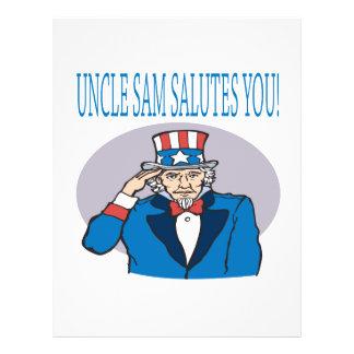 O tio Sam sauda-o Panfletos Personalizado