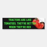 o tomate, tratores é como tomates, eles é apostado adesivos