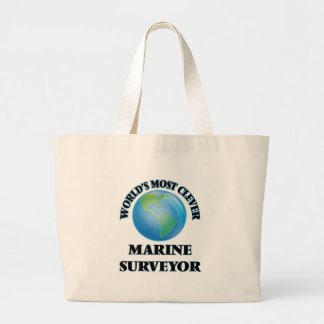 O topógrafo marinho o mais inteligente do mundo sacola tote jumbo