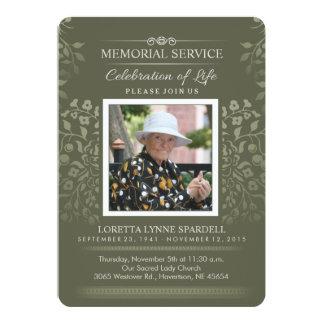 O toque da foto floral da cerimonia comemorativa convite 12.7 x 17.78cm
