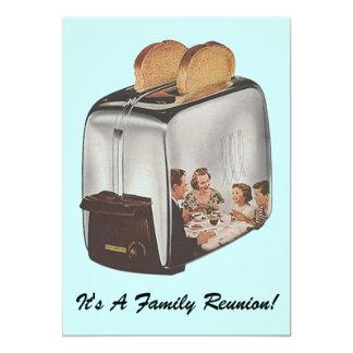 O torradeira da reunião de família do vintage convite 12.7 x 17.78cm