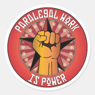 O trabalho do Paralegal é poder Adesivos Redondos