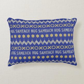 """O travesseiro """"abraço Sameach"""" de Hanukkah Almofada Decorativa"""