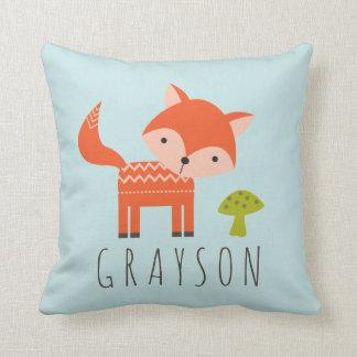 O travesseiro decorativo personalizado Fox pequeno Almofada