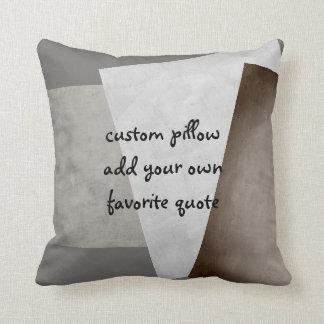 o travesseiro feito sob encomenda adiciona seus almofada