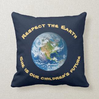 O travesseiro futuro das crianças da terra do almofada