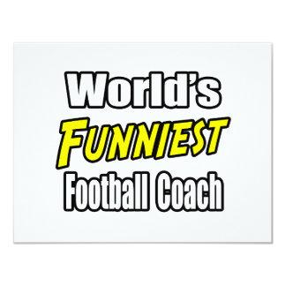O treinador de futebol o mais engraçado do mundo convite 10.79 x 13.97cm