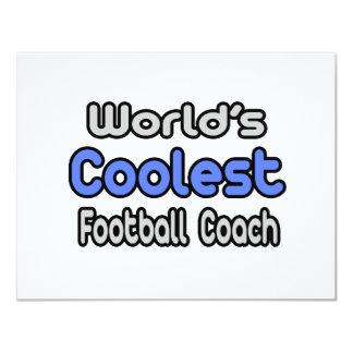 O treinador de futebol o mais fresco do mundo convite personalizado