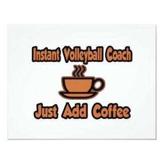 O treinador imediato do voleibol… apenas adiciona convite 10.79 x 13.97cm