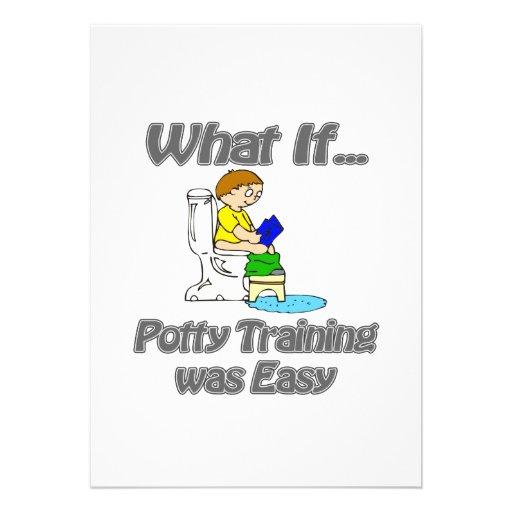 O treinamento do Potty era fácil Convites Personalizados