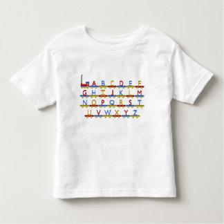 O trem do alfabeto camisetas