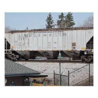 O trem do jardim zoológico impressão de foto