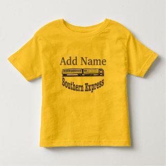O trem expresso do sul adiciona o nome camiseta infantil