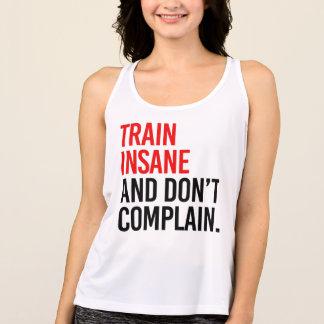 O trem insano e não se queixa regata