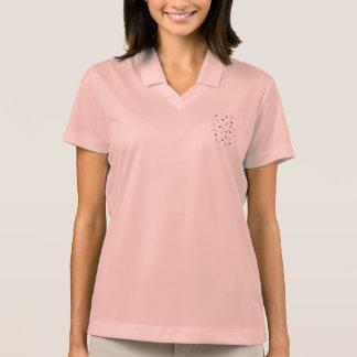 O trevo floresce o t-shirt do polo das mulheres