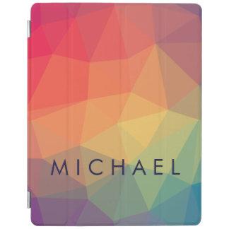 O triângulo poligonal elegante colorido adiciona capa smart para iPad