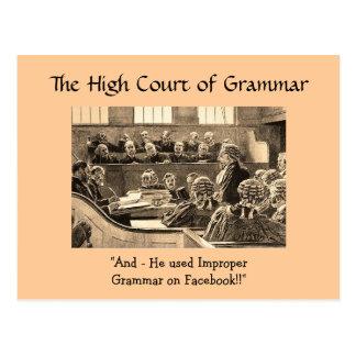O tribunal federal da gramática - cartão