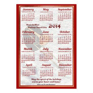 O Trombone 2014 deixou o calendário do bolso de ar Cartão De Visita Grande