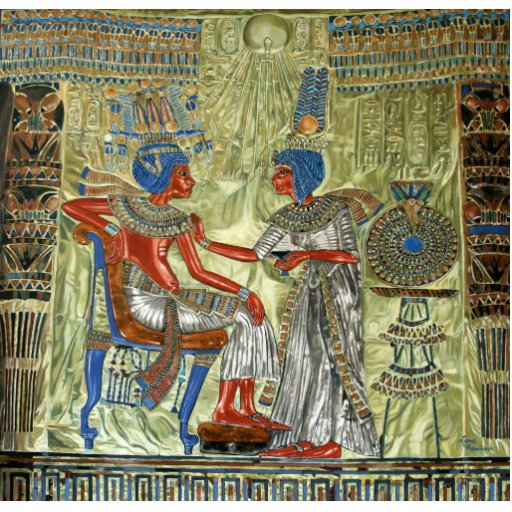 O trono de Tutankhamon Escultura Fotos
