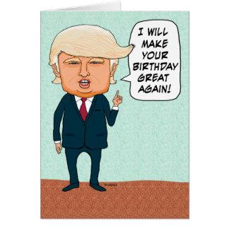 O trunfo engraçado faz seu excelente do cartão comemorativo
