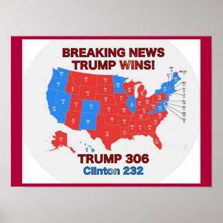 O trunfo ganha o poster do mapa da eleição