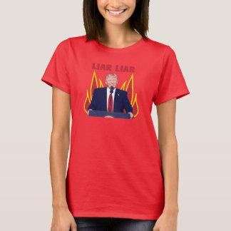 O trunfo promete o mentiroso do mentiroso camiseta